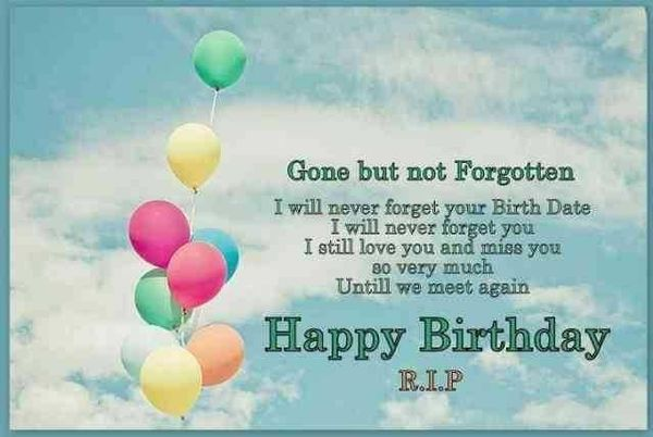 Happy Birthday In Heaven Quotes For Mom Dad Son Grandma