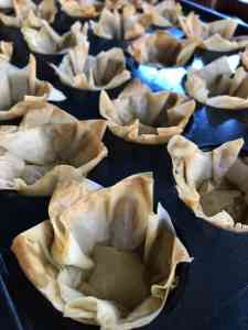 Baked phyllo cups