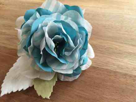 Handmade silk flower with velvet leaves