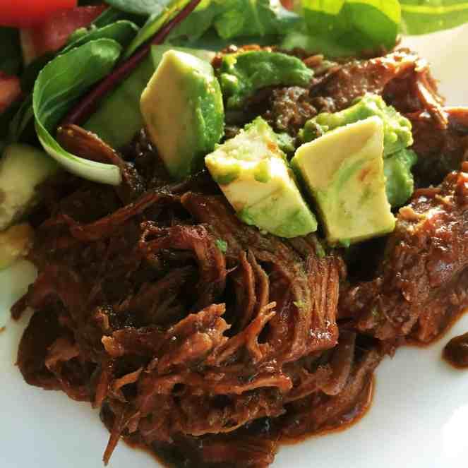 Ranchero Sauce on Shredded Pork