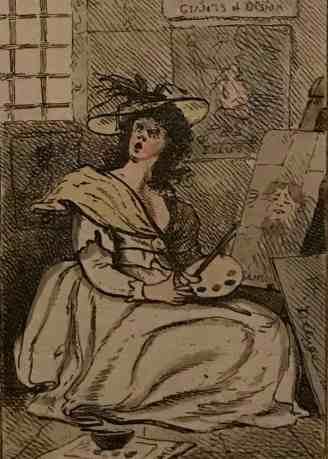 Caricature by Bartolozzi