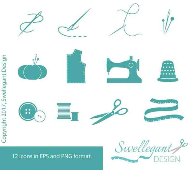 Sewing Vector Icons Set #2