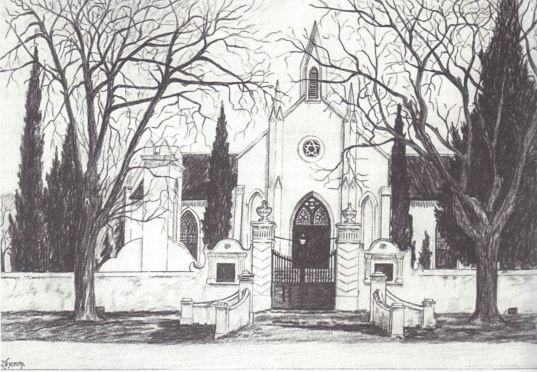 Skets van kerkgebou 1875-1909