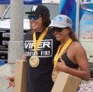 Grand Champions James Fenney and Makena Magro. A second championship for Fenney and a bright future for SDSU water polo player Magro. Their wins kept the team trophy with Pine St.