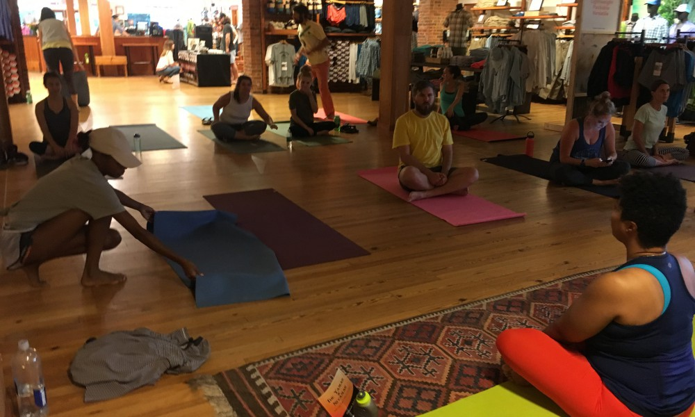 Pre-event yoga with Charisse Williams was wonderful!!