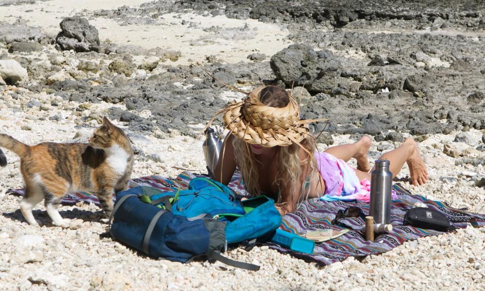 Beach day with Amelia.