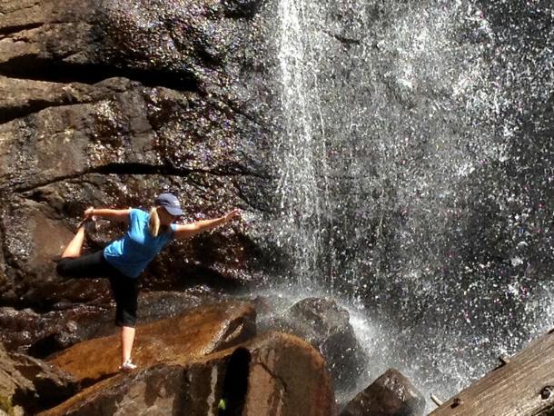 Ouzel Falls dancer