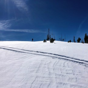 Skinning into to Backcountry