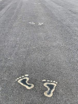 Follow the footprints!