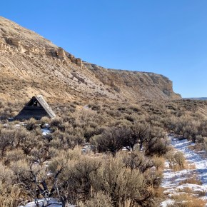Solo in Fossil Butte National Monument in Southwest Wyoming