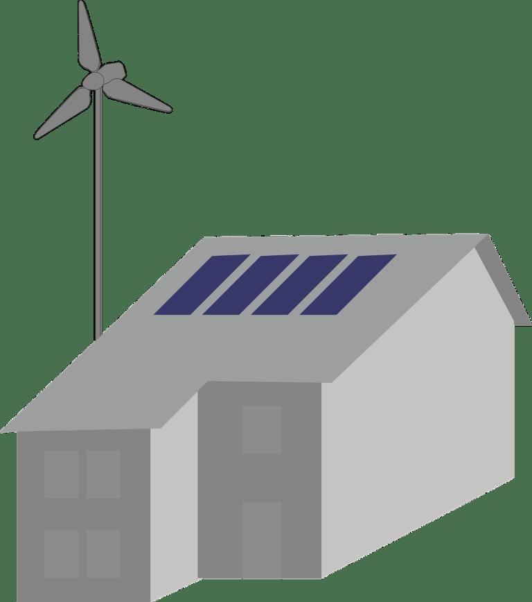 wind, windmill, turbine, solar, hybrid