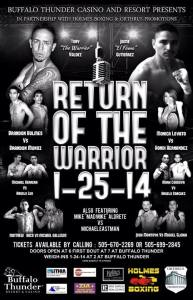 Return of the Warrior - Holmes Boxing Card
