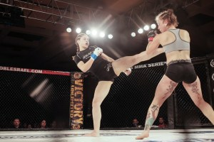 She didn't look like she was making her amateur debut, Cynthia Arceo, showed the technical poise and talent of an experienced fighter en route to a second round TKO.