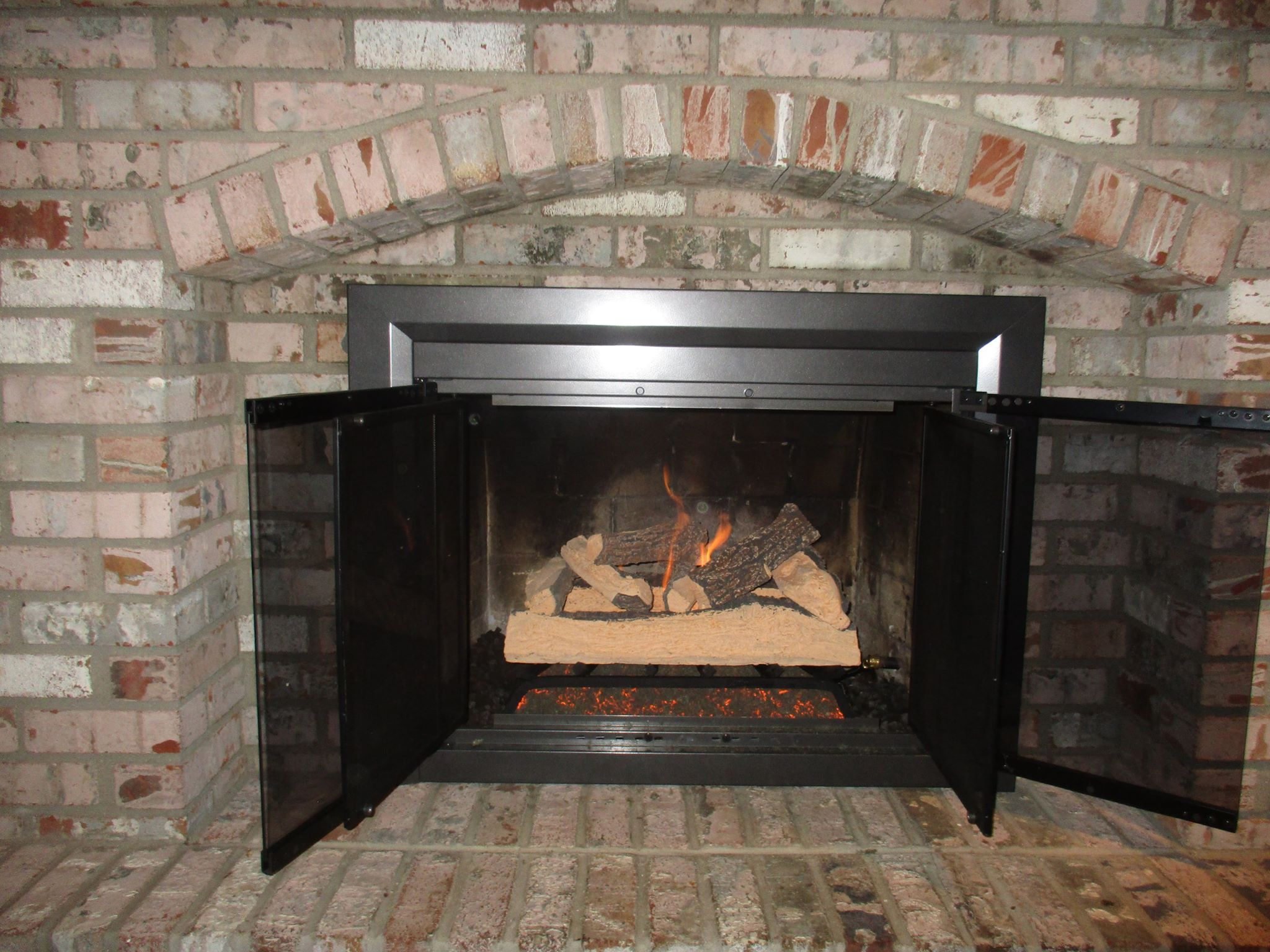 Fireplace Grills Gas Log Installation – Before & After Photos