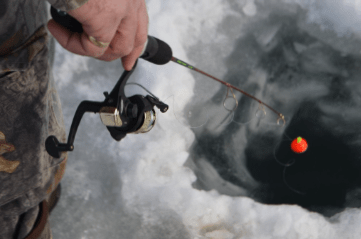 Crawford State Park offers free use of ice fishing gear