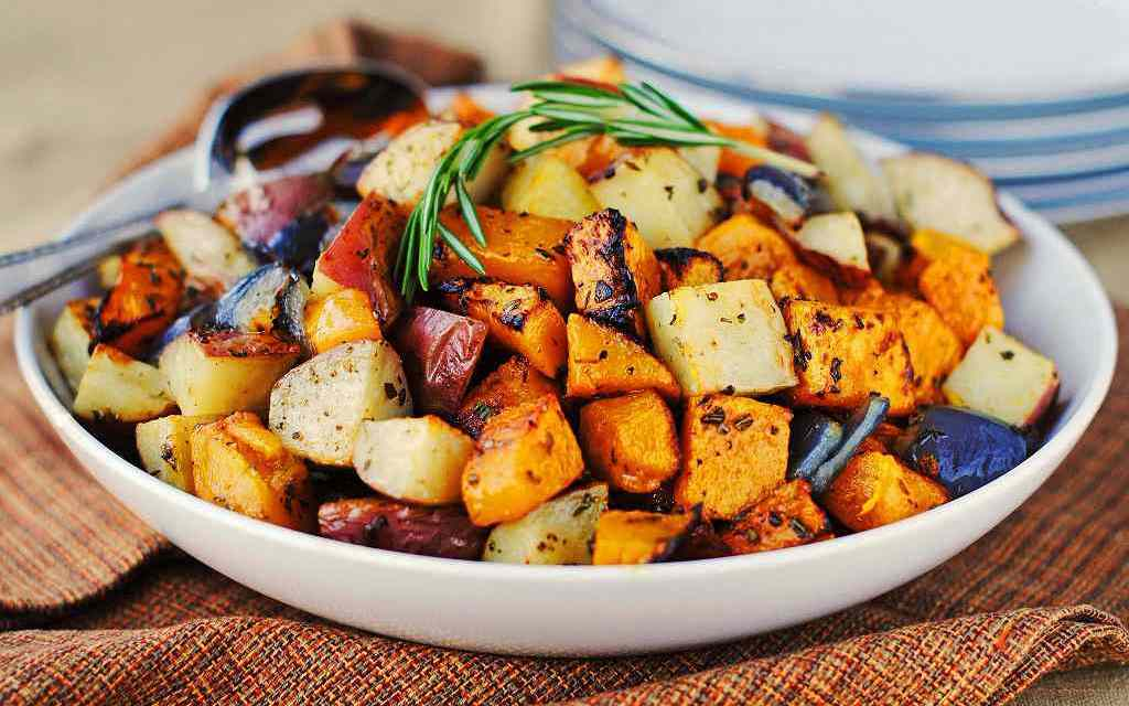 Roasted Root Vegetables with Curry and Cilantro