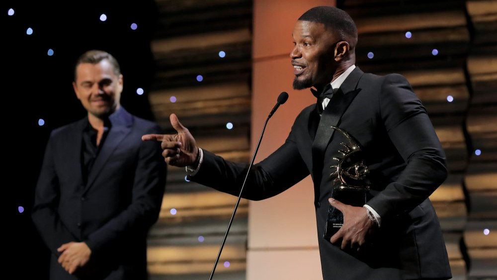 Leonardo DiCaprio Honors Jamie Foxx at American Black Film Festival Honors Ceremony