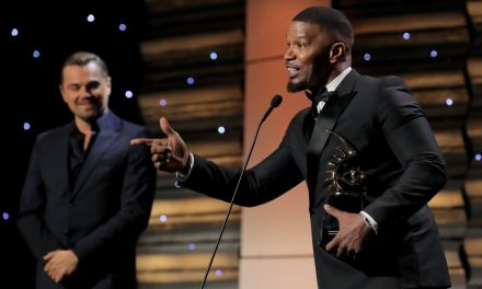 Leonardo DiCaprio Honors Jamie Foxx at American Black Film Festival Honors Ceremony