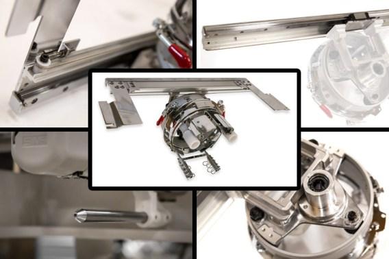 SWF K-UH1504D-45 Dual Function 4 Head (Standard Sewing Field)