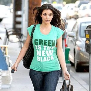 Kim Kardashian Green