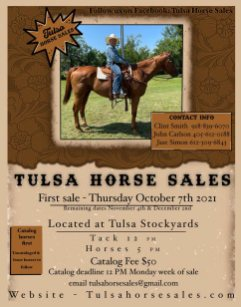 tulsa horse sales first thursday of each month