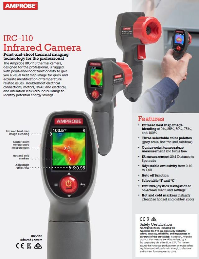 Amprobe IRC-110 Infrared Camera