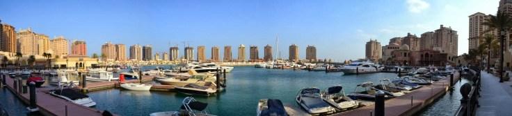 Doha co zobaczyć, Doha z dzieckiem, Doha, stopover, przesiadka, Katar, The_Pearl, Perła, sztuczna_wyspa, tranzyt, Porto_Arabia