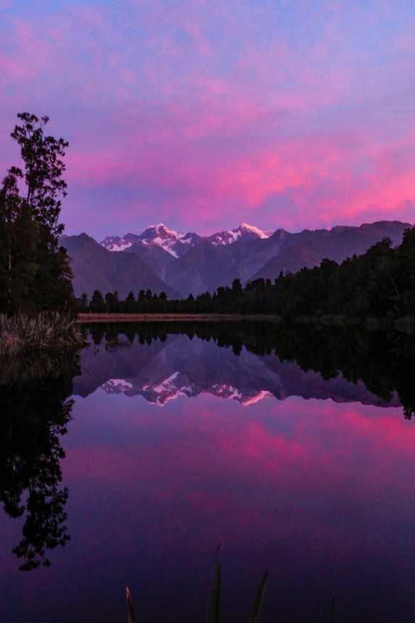 Matheson Lake - 3 tygodnie w Nowej Zelandii - plan trasy