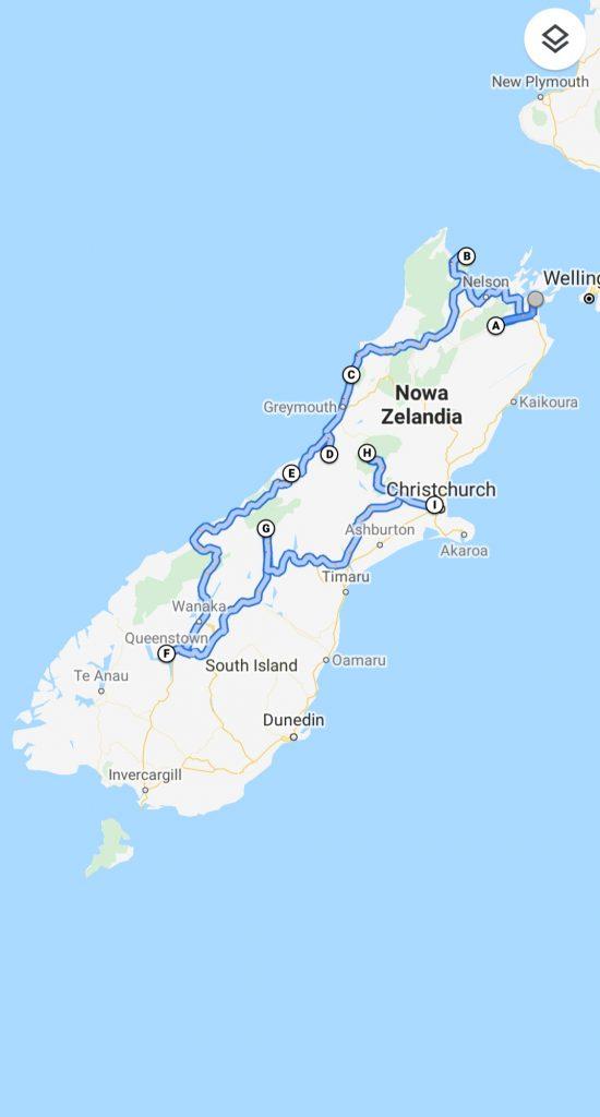 NZ wyspa południowa 550x1024 - Nowa Zelandia - koszty podróży