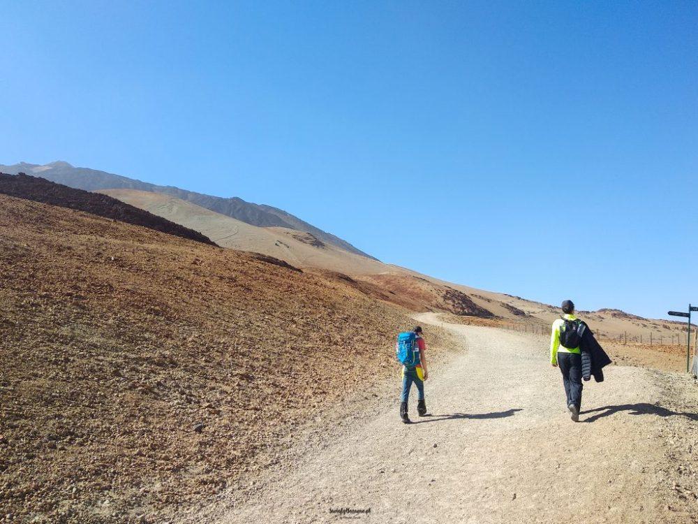 Trasa do schroniska z Montana Blanca