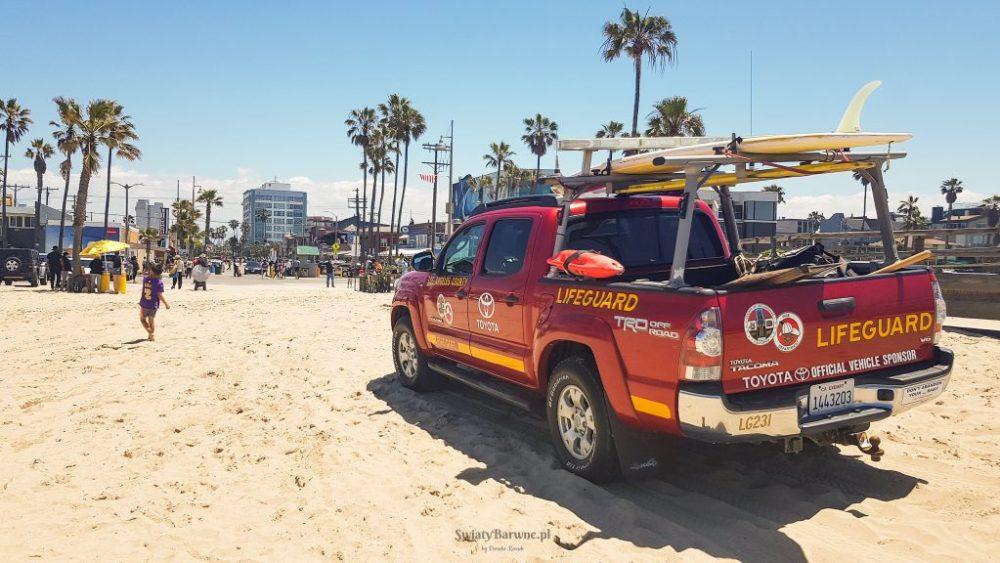 Samochód ratowników na Venice Beach