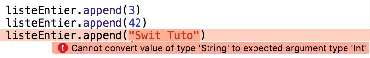 Erreur avec les générics en swift sous Xcode