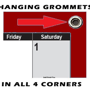 SwiftGlimpse Maroon Calendars with Grommets