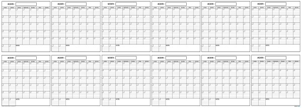 Yearly Wall Planner 36 x 100 by SwiftGlimpse full size