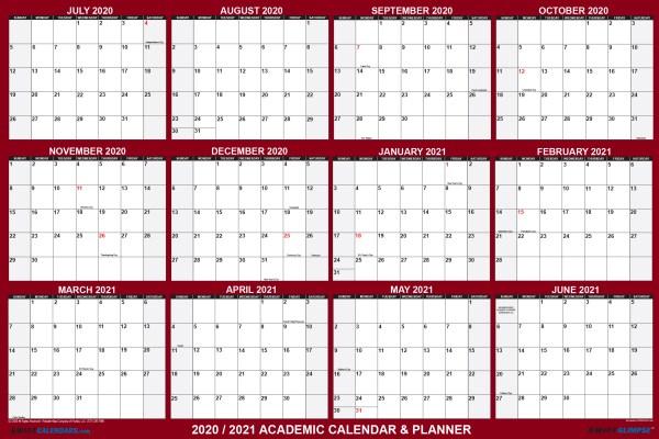 2020 2021 Academic Planning