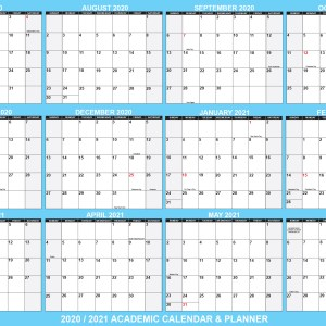 2020-2021 school calendar planner for distance learning school supplies