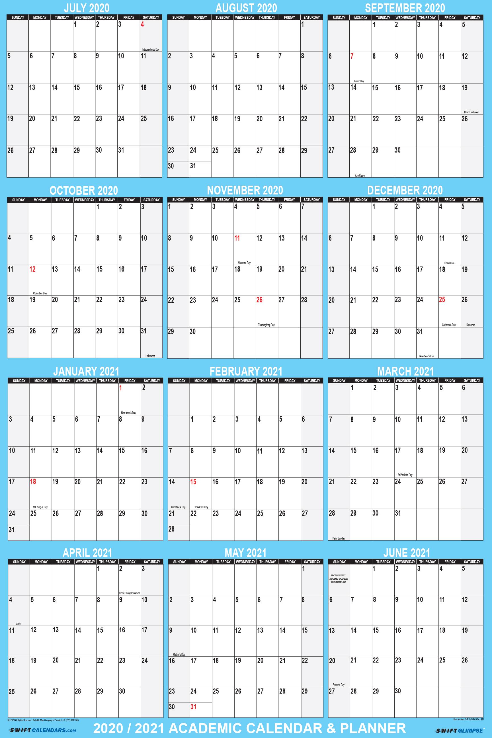2021 Planning Calendar 2020 2021 Academic Planning Calendar 24