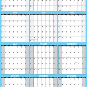2021 Wall Calendar 32 x 48 Reversible SwiftGlimpse in Blue Vertical