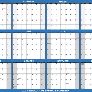 "2021 Wall Calendar 32"" x 48"" - Reversible SwiftGlimpse in Navy"