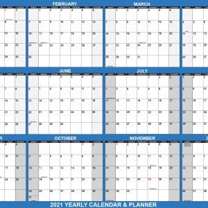 "2021 Wall Calendar 32"" x 48"" - Reversible SwiftGlimpse in Navy"