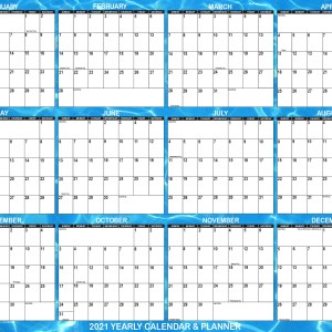 2021 Wall Calendar, designed with refreshing water background