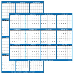 2021 – 2022 Academic Planning Calendar 24″ x 36″ Navy reversible