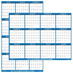 2021 – 2022 Academic Planning Calendar 24″ x 36″ Navy reversible