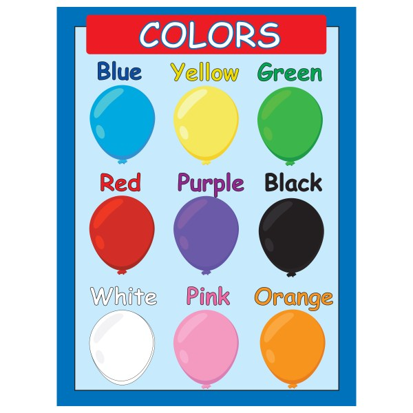 Primary Colors Poster Chart