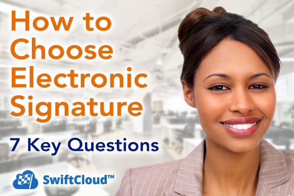 How to choose electronic signature