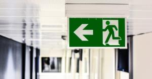emergency exit sign - pool safety