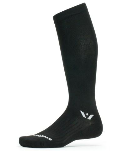 Swiftwick Aspire 12 Black Graduated Compression Sock