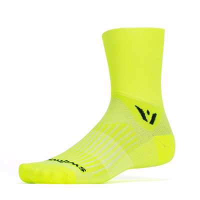 Swiftwick Aspire Four Hi Viz Yellow Sock