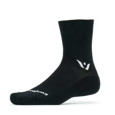Swiftwick Pursuit Merino Four Black sock
