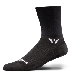 Swiftwick Performance Four Black Sock